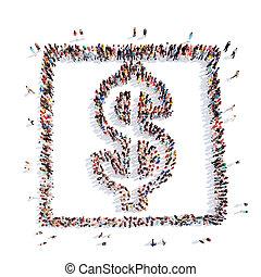 χρήματα , dollar., σήμα , μορφή , άνθρωποι