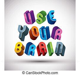 χρήση , γινώμενος , γράμματα , ρυθμός , εγκέφαλοs , retro ,...