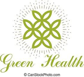 χρήση , λουλούδι , άνοιξη , φύλλα , κοινωνικός , συμβολικός , emblem., σύμβολο , advertisement., θέμα , μικροβιοφορέας , πράσινο , αρμονία , wellness , life., ιατρικός