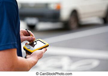 χρησιμοποιώνταs , handheld , gps