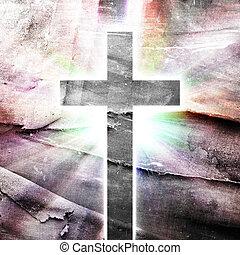 χριστιανισμός , αναπαράσταση , με , ο , σύμβολο