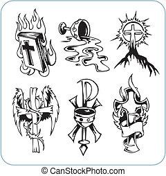 χριστιανόs , θρησκεία , - , μικροβιοφορέας , illustration.
