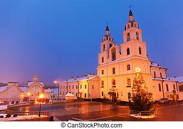 χριστιανόs , καθεδρικόs ναόs , μέσα , minsk, belarus
