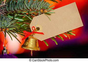 χριστουγεννιάτικη κάρτα , καμπάνα
