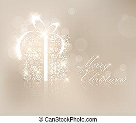 χριστουγεννιάτικη κάρτα , με , απονέμω , κουτί