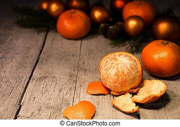 χριστουγεννιάτικη κάρτα , με , φρούτο , κορνίζα
