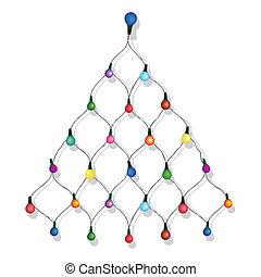 χριστουγεννιάτικο δέντρο , γιρλάντα