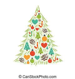 χριστουγεννιάτικο δέντρο , κάρτα , μικροβιοφορέας