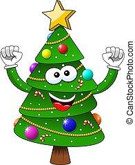 χριστούγεννα αγχόνη , απομονωμένος , γελοιογραφία , αγάλλομαι , xριστούγεννα , ευτυχία