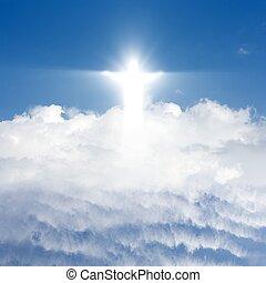 χριστός , μέσα , ουρανόs