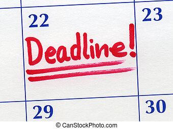 χρονικό περιθώριο , ημέρα , γραμμένος , επάνω , ένα , calendar.