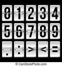 χρονοδιάγραμμα , αριθμοί , ασημένια