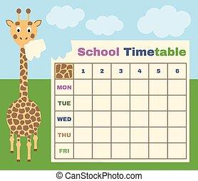 χρονοδιάγραμμα , ιζβογις , καμηλοπάρδαλη