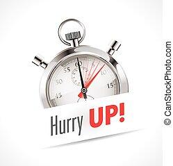 χρονόμετρο , βιασύνη , - , πάνω