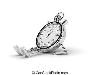 χρονόμετρο , κειμένος