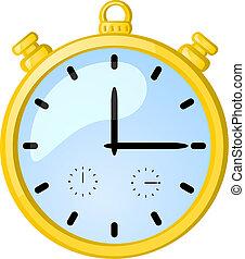 χρονόμετρο , χρυσαφένιος