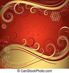 χρυσαφένιος , αριστερός φόντο , (vector), xριστούγεννα