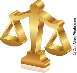 χρυσαφένιος , δικαιοσύνη , μικροβιοφορέας , sc , 3d , εικόνα...