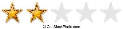 χρυσαφένιος , δυο , αστέρι , εκτίμηση , - , recension, 2nd , δεύτερος , πέντε , αστέρας του κινηματογράφου , 2 , ψηφοφορία