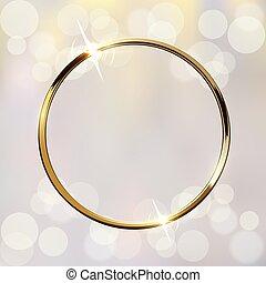 χρυσαφένιος , εικόνα , θολός , μικροβιοφορέας , αφρώδης , φόντο , δακτυλίδι , λαμπερός