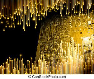 χρυσαφένιος , ηλικία , από , ηλεκτρονικός εγκέφαλος τεχνική ορολογία