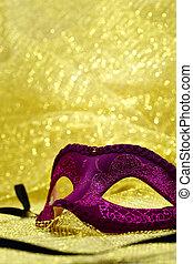 χρυσαφένιος , καρναβάλι , διάστημα , κρασί , μάσκα , φόντο , αντίγραφο