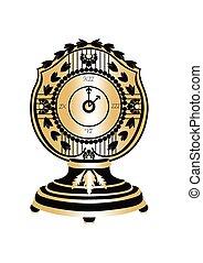 χρυσαφένιος , κλασικός , στρογγυλός , ρολόι