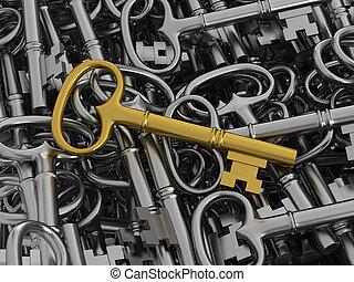 χρυσαφένιος , κλειδί , μοναδικός