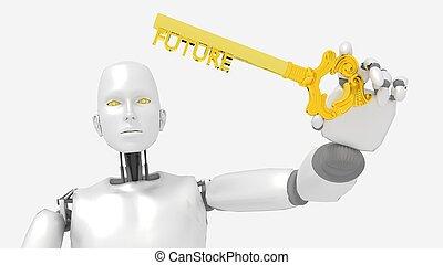 χρυσαφένιος , λέξη , ρομπότ , μέλλον , απονέμω , κλειδί