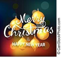 χρυσαφένιος , μικρόπραγμα , χαιρετισμός , εικόνα , μικροβιοφορέας , εύθυμος , έτος , καινούργιος , αίσιος διακοπές χριστουγέννων , card.