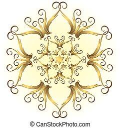 χρυσαφένιος , νιφάδα χιονιού , (vector), κρασί