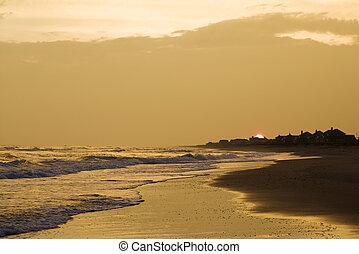 χρυσαφένιος , παραλία , sunset.