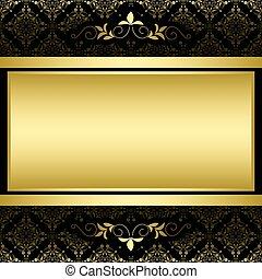 χρυσαφένιος , πρότυπο , κορνίζα , μικροβιοφορέας , μαύρο , κρασί
