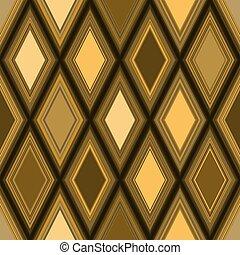 χρυσαφένιος , πρότυπο , seamless, rhombuses, wiith, γεωμετρικός