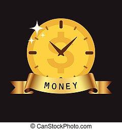 χρυσαφένιος , ρολόι , χρήματα , εικόνα , μικροβιοφορέας , φόντο , επινοώ , ταινία