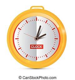 χρυσαφένιος , χαρτί , clock., vector.