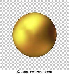 χρυσαφένιος , χρυσός , μέταλλο , σφαίρα , ρεαλιστικός , μικροβιοφορέας , ball.