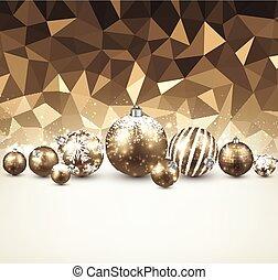 χρυσαφένιος , balls., xριστούγεννα , φόντο