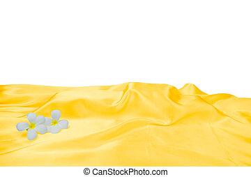 χρυσαφένιος , flower., αγκαλιάζω , αφαιρώ , κίτρινο , κομψός , σατέν , texture., μεταξένιος , ύφασμα , πλοκή , φόντο. , πολυτέλεια , rippled , backdrop. , ουσιώδης , velvet., ένδυμα , κυματιστός , μετάξι , textiles., λείος , ή