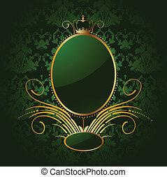 χρυσαφένιος , frame., βασιλικός , μικροβιοφορέας , αγίνωτος φόντο