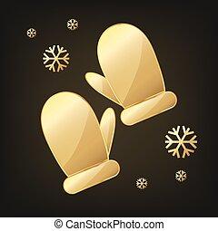 χρυσαφένιος , icon., μικροβιοφορέας , γάντι χωρίς δάχτυλα , illustration.