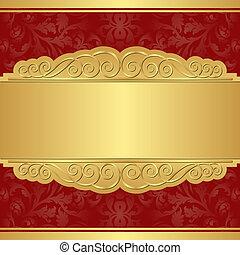 χρυσός , αριστερός φόντο
