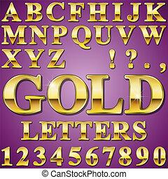 χρυσός , γράμματα