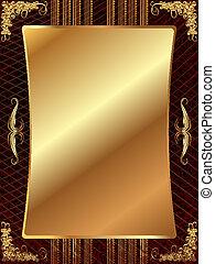 χρυσός , κορνίζα , με , πρότυπο , 11