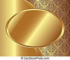 χρυσός , κορνίζα , με , πρότυπο , 2