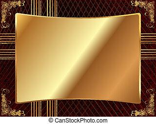 χρυσός , κορνίζα , με , πρότυπο , 4