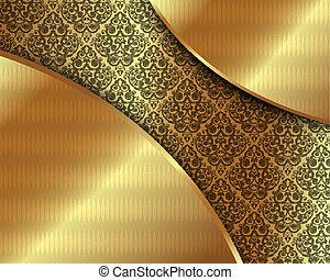 χρυσός , κορνίζα , με , πρότυπο , 6