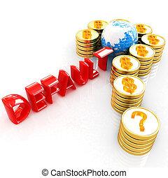 χρυσός , μορφή , ερώτηση , κέρματα , δολάριο , σημαδεύω , σήμα
