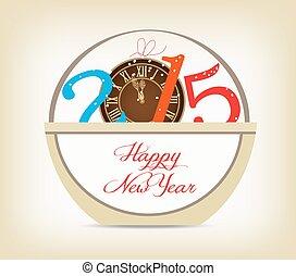 χρυσός , ρολόι , έτος , 2015, καινούργιος , ευτυχισμένος