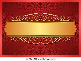χρυσός , φόντο , κόκκινο